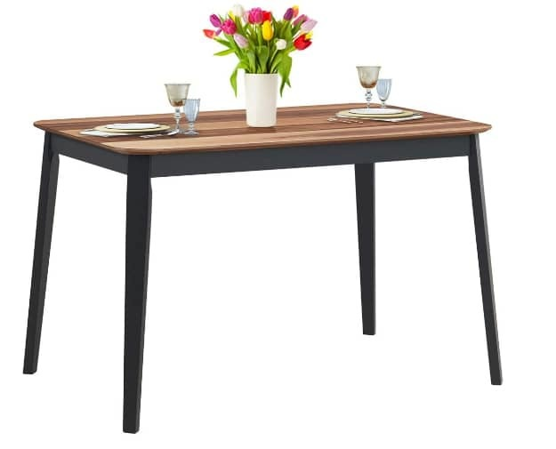 Giantex Wood Dining Table Rectangular Kitchen Table