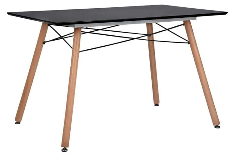 GreenForest Dining Table Rectangular Top with Wood Legs